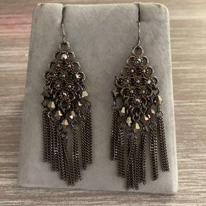Premier Designs hematite statement earrings, NWOT